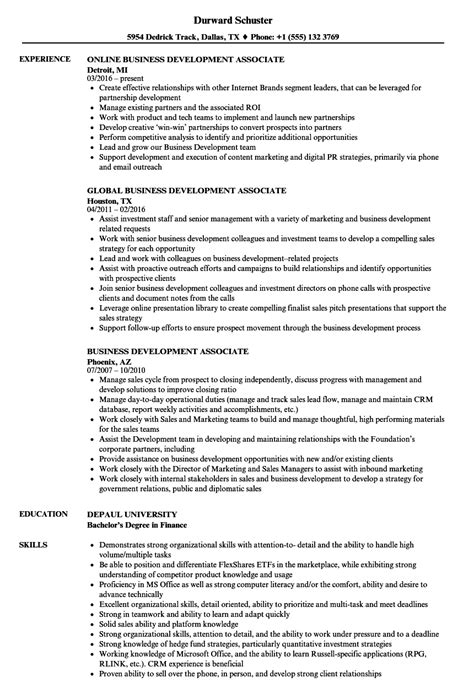 Development Associate Cover Letter by Business Development Associate Cover Letter Sharepoint Consultant Sle Resume
