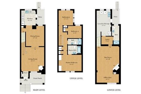 row house floor plan new row home floor plan new home plans design