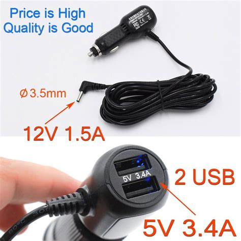 Adapter Charger 5 Port Usb M Cross wholesale 5v 3 4a 3 5mm port car charger with 2 usb for
