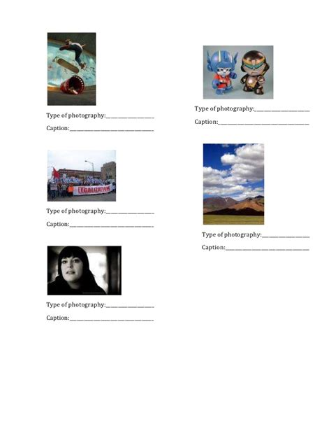 Photography Worksheets by Worksheet Photography Worksheets Caytailoc Free