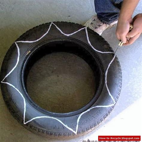 Plant Potters how to recycle old tires as a flower pots