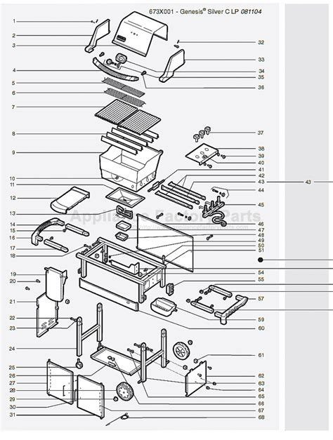 weber genesis parts diagram weber genesis silver b swe 2005 parts bbqs and gas grills