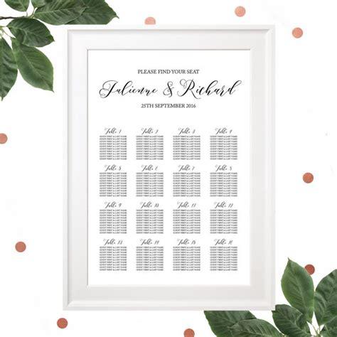 rehearsal dinner seating printable wedding rehearsal dinner seating chart