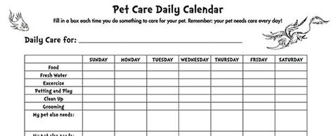 printable puppy daily schedule seussville parents