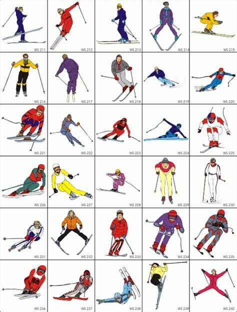 winter sports pictures   clip art