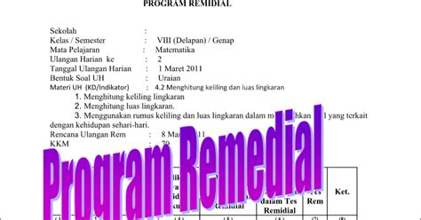 format buku remedial dan pengayaan download contoh program remedial dan format remedial