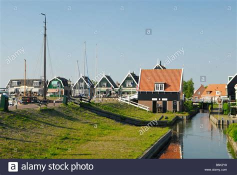 buy a house in holland old dutch houses in marken a small village near amsterdam holland the stock photo