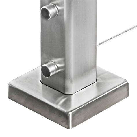stainless steel l post cover plate for square stainless steel terminal posts