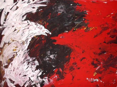 Acrylic Merah gt gt lukisan abstrak karya heno airlangga heno airlangga
