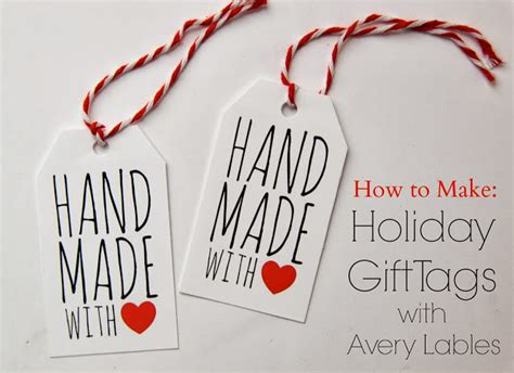 printable christmas tags handmade tutorial how to make holiday gift tags with avery labels
