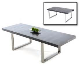 Modern Extendable Dining Table by Skyline Black Crocodile Textured Lacquer Extendable Dining