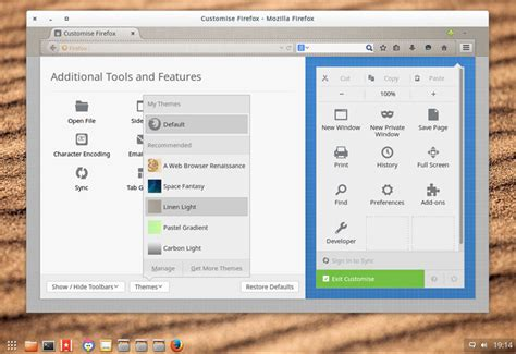 firefox live themes firefox 34 on ubuntu 14 04 and 14 10 new features