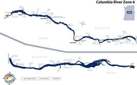 columbia river fishing map columbia river zone 6 critfc