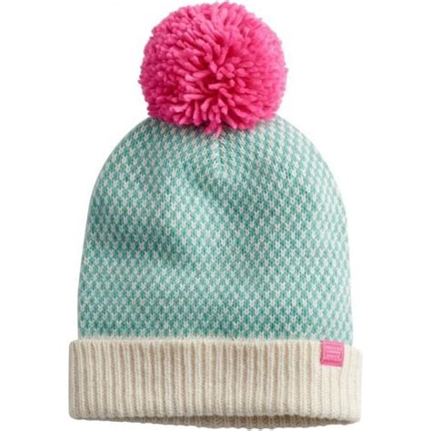 joules s mable knitted bobble hat
