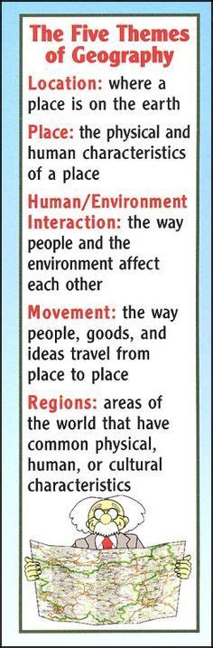 5 themes of geography bulletin board best 25 geography activities ideas on pinterest