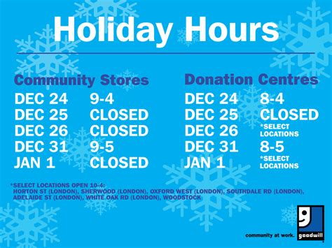 goodwill new years hours hours at goodwill