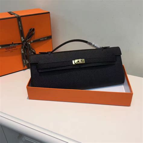 Hermes Cut Clutch Epsom Leather Mirror Quality hermes cut 31cm epsom leather clutch black 189 00