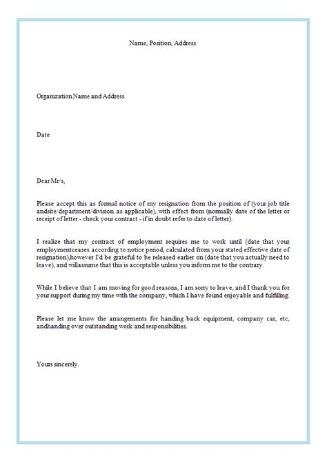 how to write a resignation letter template write a resignation letter levelings