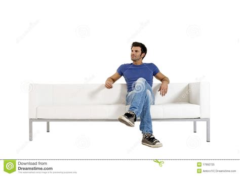 a man and a couch man on the sofa stock image image of shirt room couch