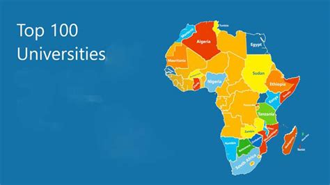 Top 100 Universities In World For Mba by Top 200 Universities In Africa Did Your School Make The List
