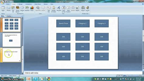 How to make a jeopardy game in powerpoint!   YouTube