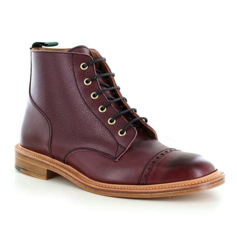 Sepatu Azcost Derby Formal Leather nps 477 000 mens made in britain leather derby boots in burgundy