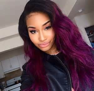 weave hairstyles with purple tips 1000 ideas about purple weave hair on pinterest sew in