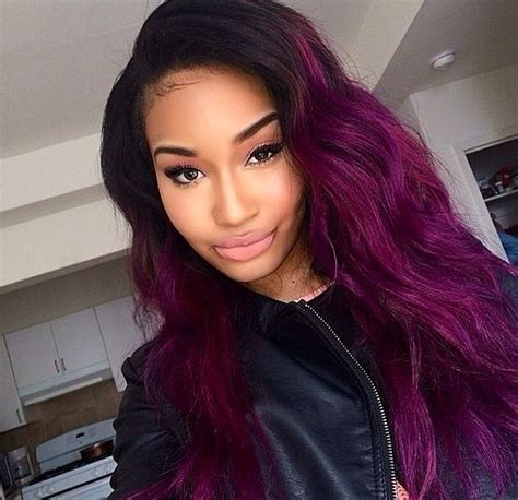 1000 ideas about purple weave hair on sew in