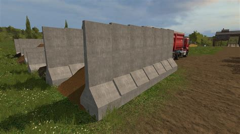Wall Ls by Grain Barrier Sections V1 0 Ls17 Farming Simulator 17