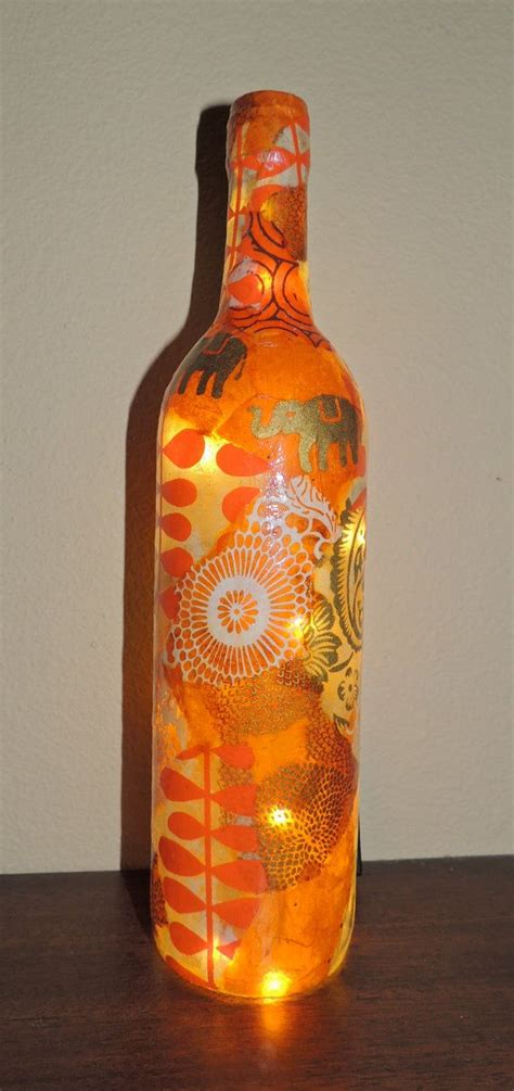 decoupage bottles 1000 images about lighted decoupage bottles on