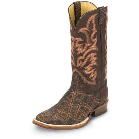 elephant boots s justin 174 13 quot safari elephant boots 582142 cowboy