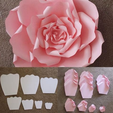 craft paper flowers roses 12 step by step diy papers made flower craft ideas for