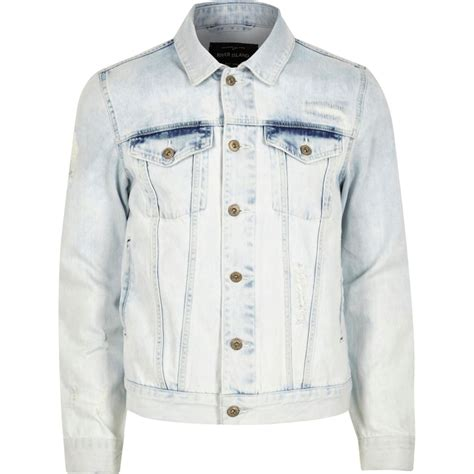 light blue denim jacket light blue acid wash denim jacket coats jackets sale