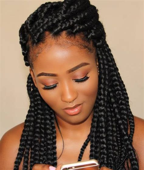 Full And Thick Braids | glow monat gm beauty 12 ways to style your box braids