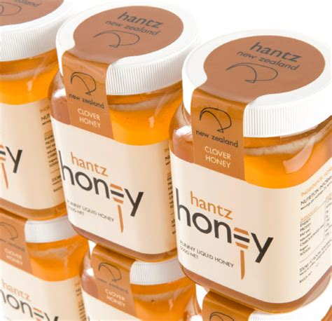 hantz honey 183 packaging and logo design