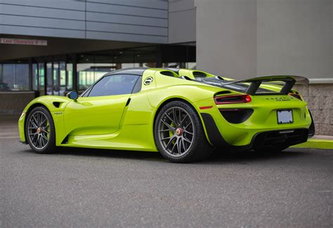 porsche 918 acid green 918 weissach in acid green oc 5848x4016 car