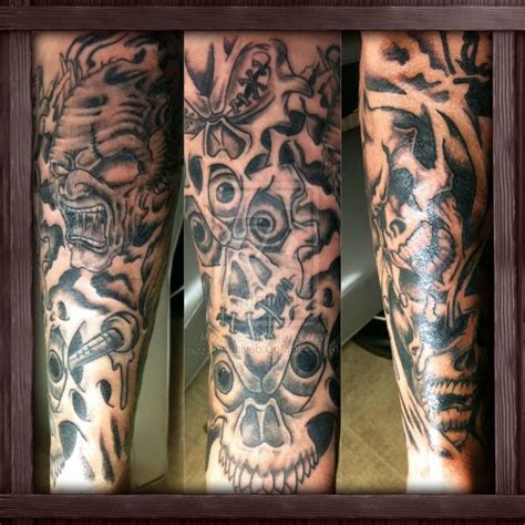 tattoo sleeve ideas for men black and white tattoos half sleeve designs black and white amazing
