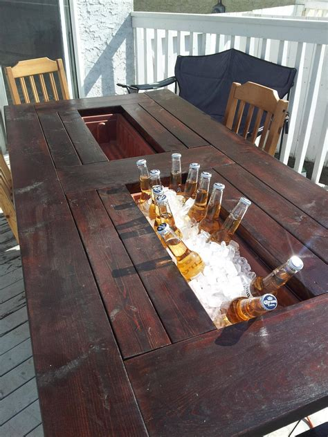 Kitchen Furniture Edmonton by My Room Mate And I Built Ourselves A Deck Table With Built
