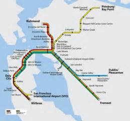 Bay Area Bart Map by Bart System Map Flickr Photo Sharing