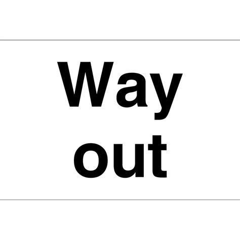 Way Out way out signs from key signs uk