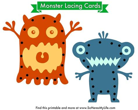 Free Printable Lacing Card Templates by 505 Best Monsters Images On Monsters School