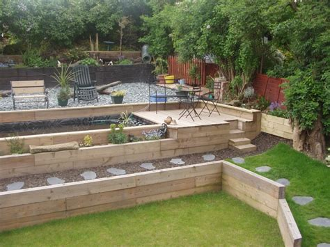 Garden Ideas With Sleepers by Back Garden Designs With Railway Sleepers Flamebox