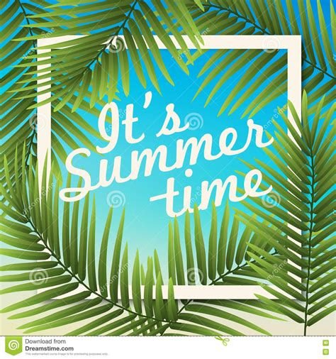 it s it s summer time wallpaper typographical background with