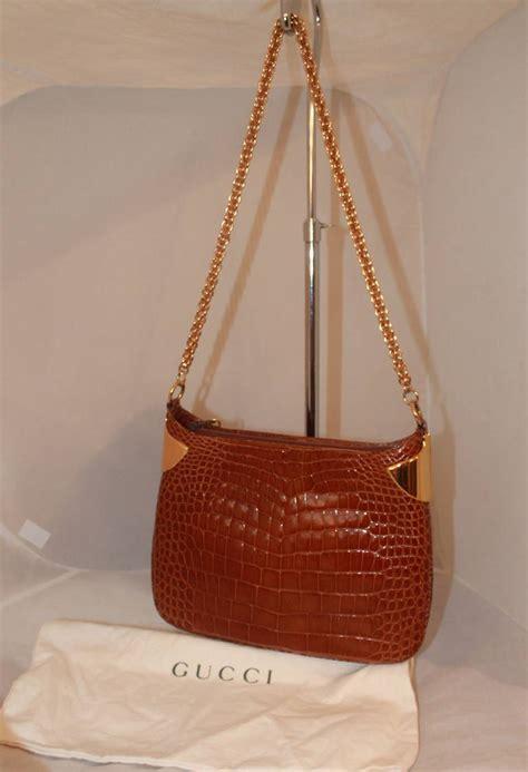 Gucci Gg Kanvas Cosmetic Sling Bag Svf2262 gucci cognac brown crocodile shoulder bag at 1stdibs