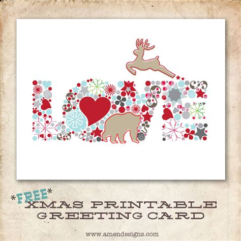 printable christmas cards love 6 best images of printable love greeting card printable
