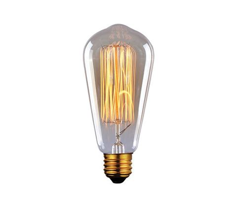canarm bulb edison bulbs 60w e26 light golden glass