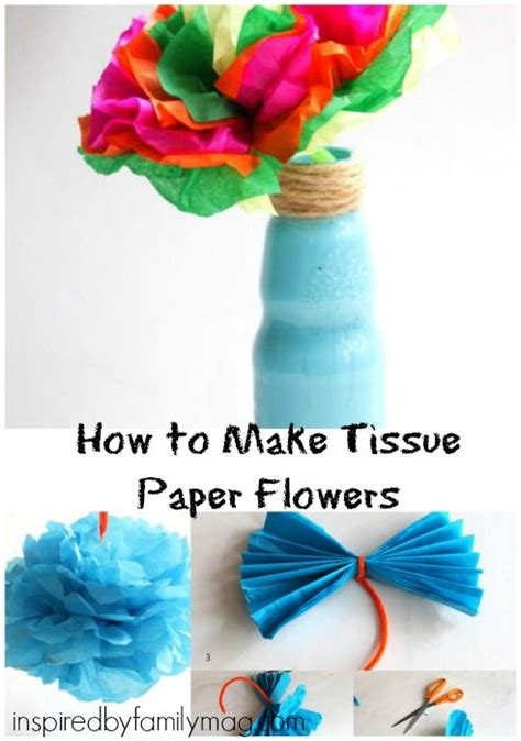 Mexican Paper Crafts - how to make tissue paper flowers hispanic heritage month