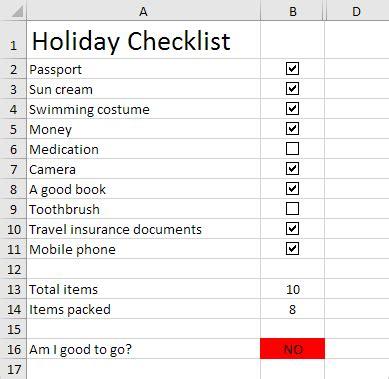 Checklist In Excel Easy Excel Tutorial Excel Checklist Template