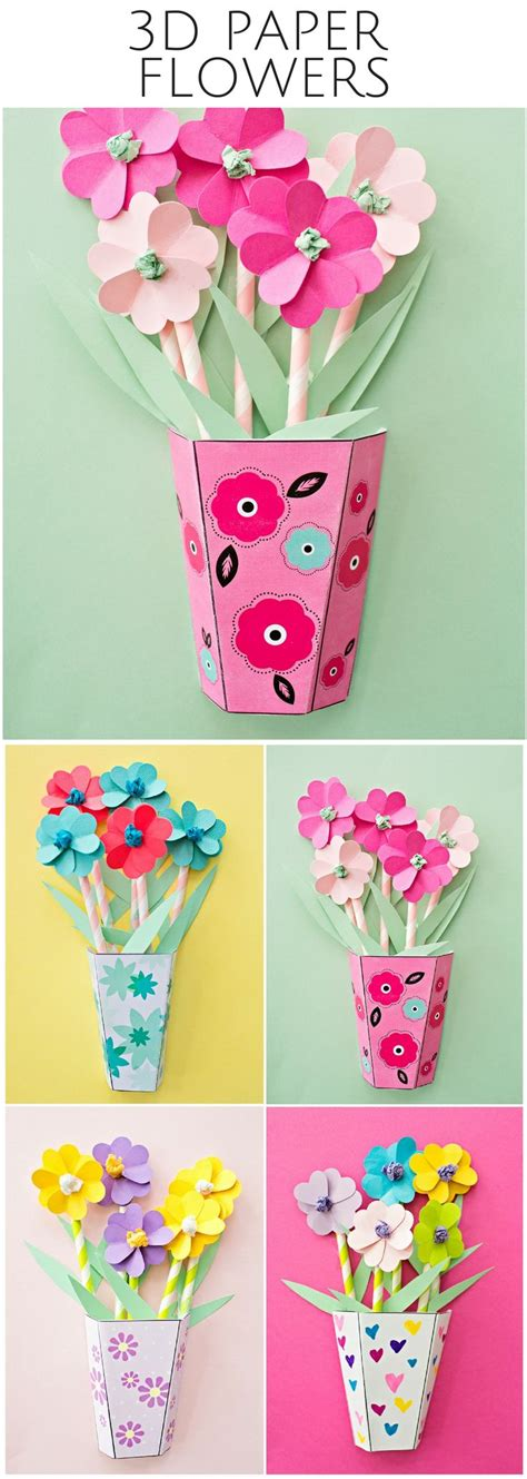 Flower Paper Craft Template - 17 best ideas about paper flowers on paper