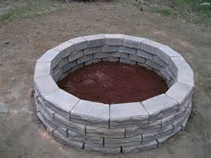 Stone Fire Pit Dimensions - how to build a fire pit the home depot community
